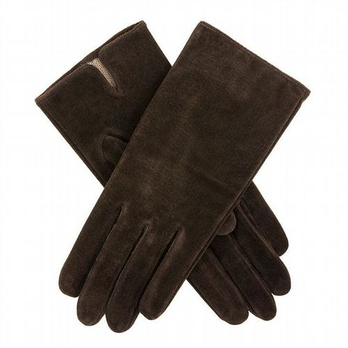 Dents - Women's Suede Gloves - Brown